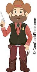 seriff, ember