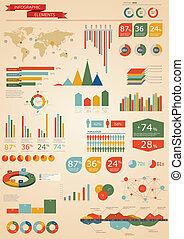 set., infographics, retro