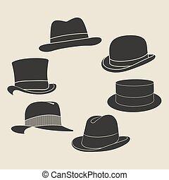 set., kalap, címke