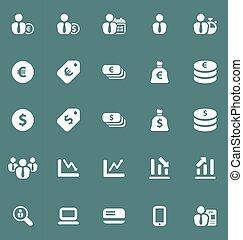 set., pénzel, ügy icons