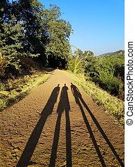 shadows, három, út