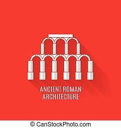 shadows, római, ősi, építészet, hosszú
