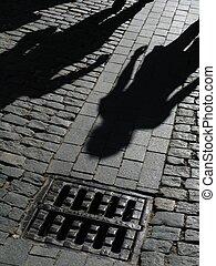 shadows, utca emberek
