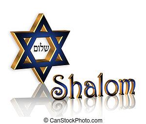 shalom, hanukkah, háttér, zsidó