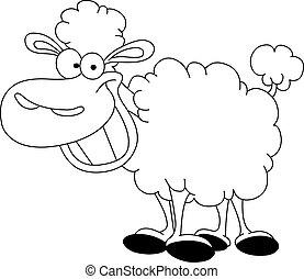sheep, körvonalazott