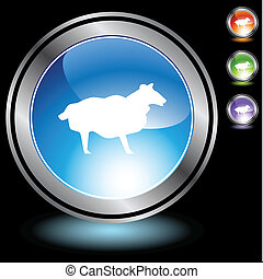 sheep, króm, állhatatos, ikon