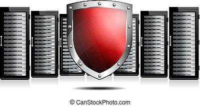 sheild, piros, servers