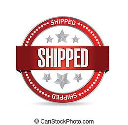 shipped, tervezés, ábra, fóka