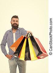 shopping., páncélszekrény, megvesz, helyrehoz, becsületes, pontos, marketplace., sell., boldog, ember, ensure, oltalom, concept., bags., értesülés, verseny, befolyás, uram, kereskedelem, fogyasztó, bevásárlás