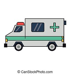 sideview, mentőautó, szükségállapot jármű