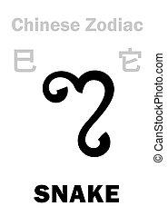 (sign, zodiac), kígyó, astrology:, kínai