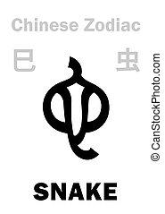 (sign, zodiac), kínai, kígyó, astrology:
