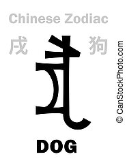 (sign, zodiac), kutya, kínai, astrology: