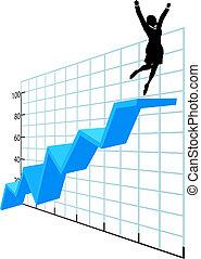 siker, ügy, társaság, diagram, feláll, személy, növekedés