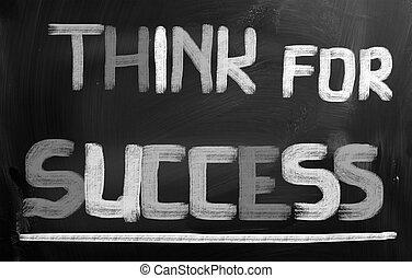 siker, fogalom, gondol