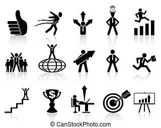 sikeres, állhatatos, ügy icons
