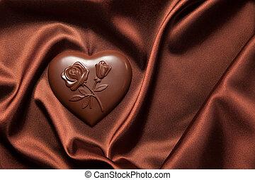 silk., menstruáció, szív, bonbon, motívum, barna, alakú