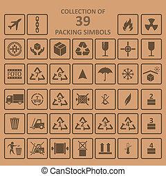 simbols, csomagolás, backgrownd, gyűjtés
