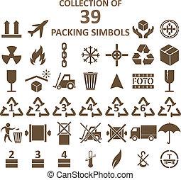 simbols, csomagolás, gyűjtés