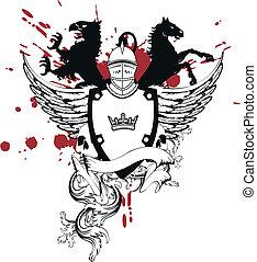 sisak, címertani, arms5, bőr