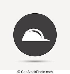 sisak, nehéz, jelkép., aláír, szerkesztés, icon., kalap