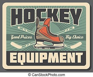 skate., korong, jég, equipments, hockey kitart, sport