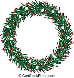 sketchy, koszorú, karácsony