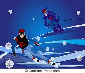 ski-cross, ábra