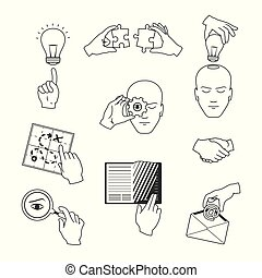 skicc, állhatatos, ügy icons, mód, vektor