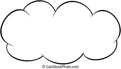 skicc, áttekintés, vektor, icon., style., felhő, illustration.