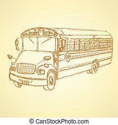 skicc, autóbusz, izbogis, csinos