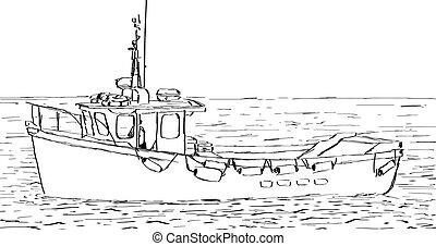 skicc, csónakázik