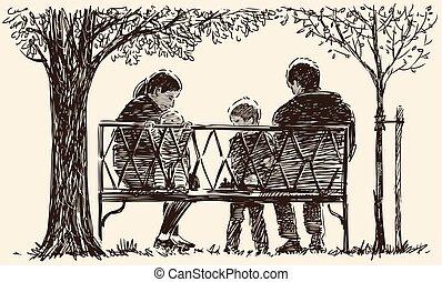 skicc, liget, fiatal, bágyasztó, család, bírói szék