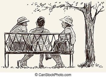 skicc, liget, maradék, bírói szék, nők, öregedő