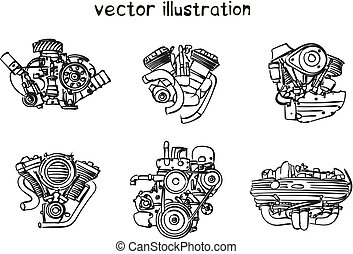 skicc, vektor, gép