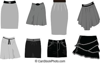 skirts-icon, vektor