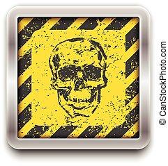 skull., vektor, eps10, illustration.