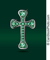 smaragdok, keresztény, kereszt