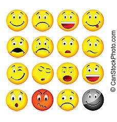 smileys, sárga