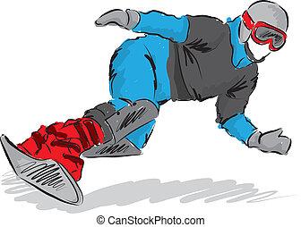 snowboarder, ábra