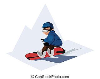snowboarding, fiú