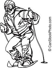 snowboarding, síelés, &