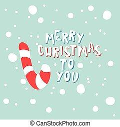 snowflakes., blue háttér, cukorka, karácsony