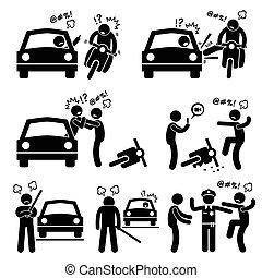 sofőr, út őrjöngés, terrorizál
