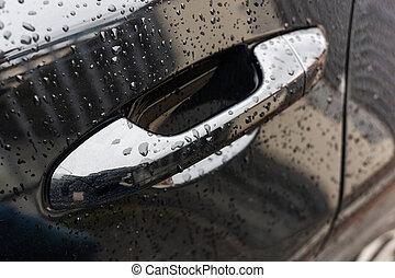 sofőr, ajtókilincs, raindrops.