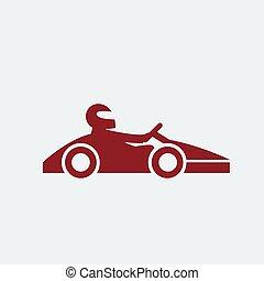 sofőr, ikon, kart