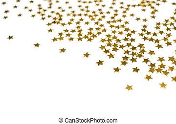 sok, csillaggal díszít, arany-