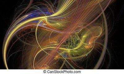 sok, fractal, megvonalaz, sárga