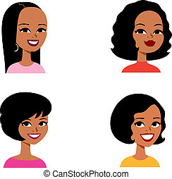 sorozat, avatar, karikatúra, nő, afrikai