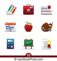 sorozat, oktatás, -, ikon
